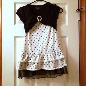 Other - One Step Up Girls Black/White peace dress Sz 10/12